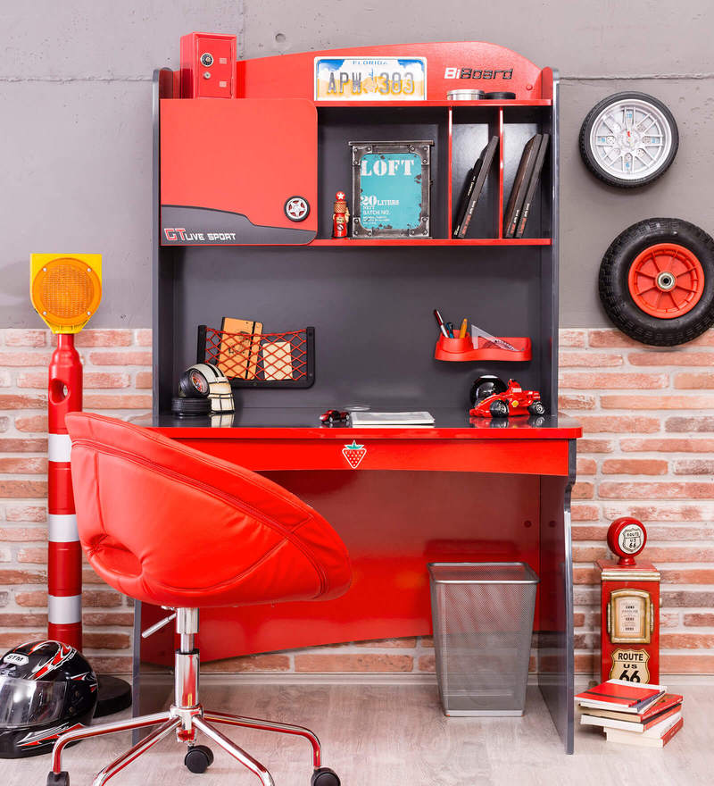 Champion Racer Study Desk with Unit by Cilek Room
