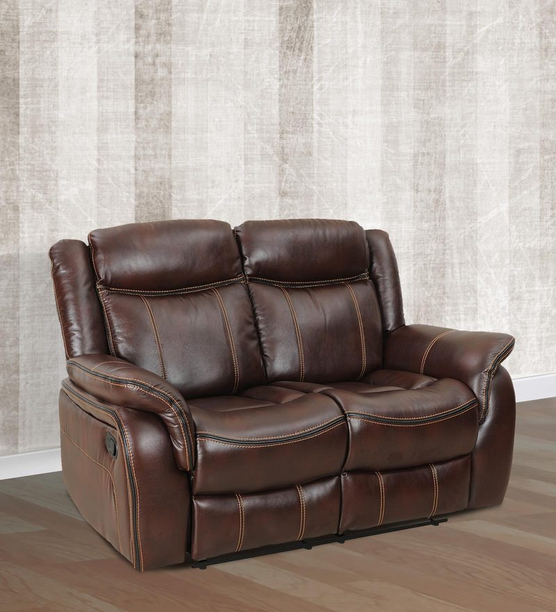 Cherry Two Seater Recliner in Maroon Colour by Royal Oak