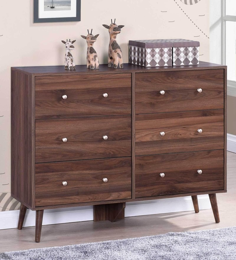 Chest of Drawers in Columbia Walnut Finish by Evergreen