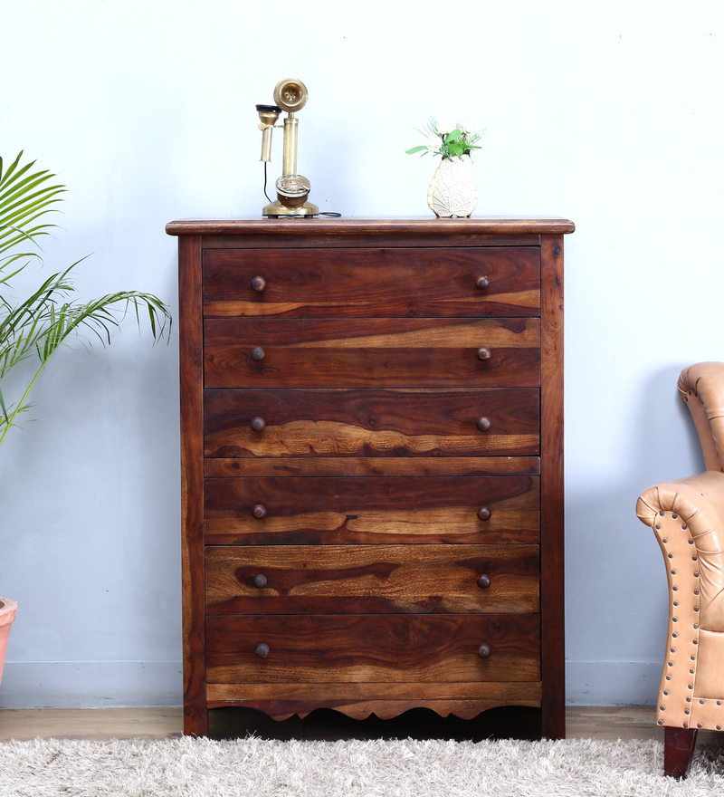 Kevala Chest of Six Drawer in Provincial Teak Finish by Mudramark