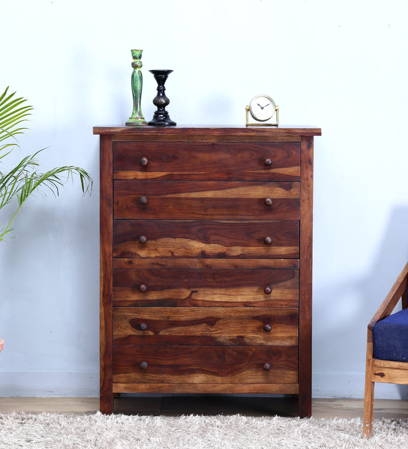 Detroit Chest of Six Drawer in Provincial Teak Finish by Woodsworth