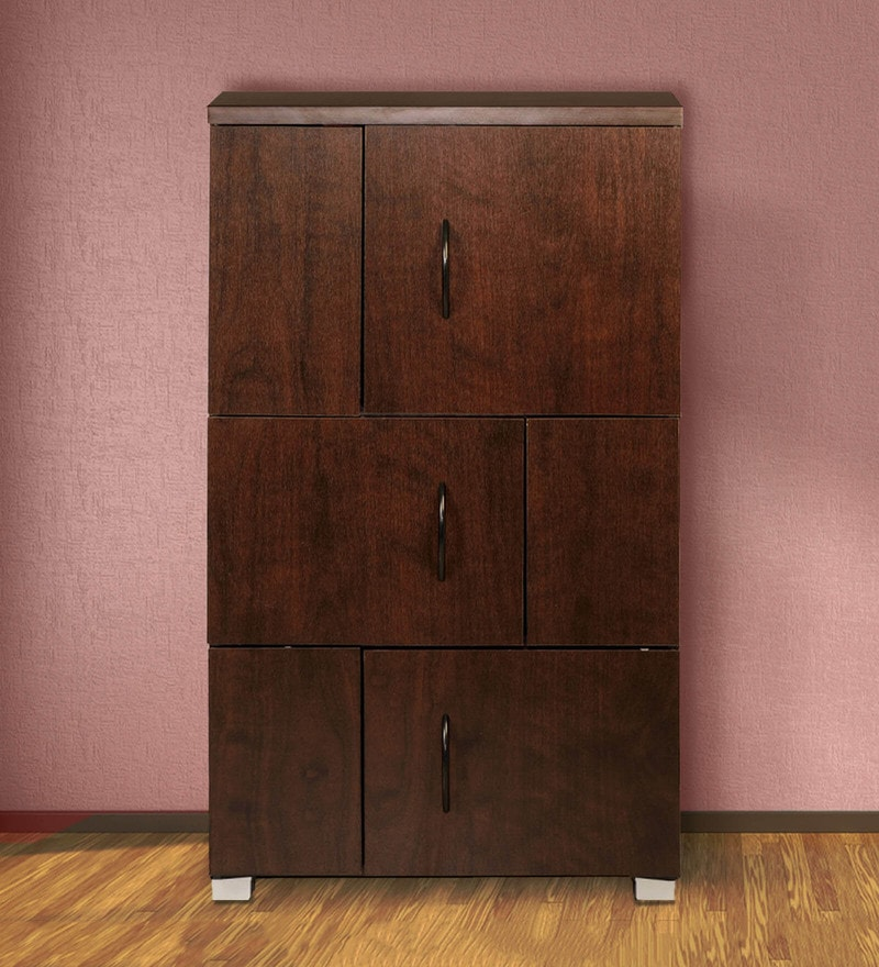 Chikako Storage Cabinet in Walnut Finish by Mintwud