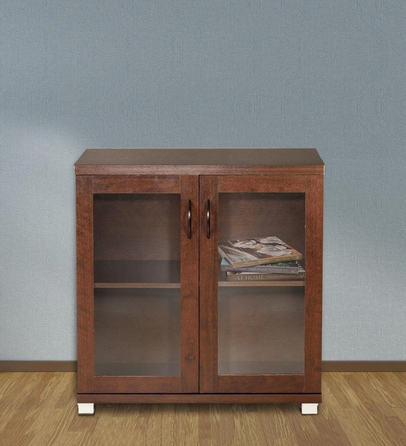 Chikako Two Door Storage Cabinet in Walnut Finish by Mintwud