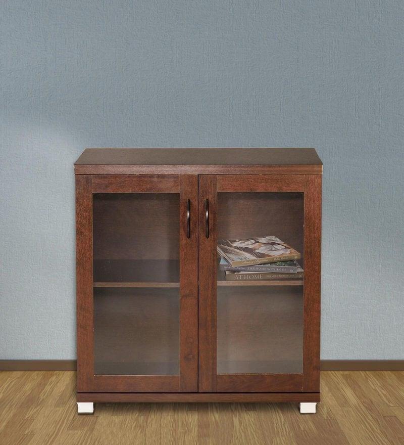 Chikako Two Door Storage Cabinet in Walnut Finish by Mintwud