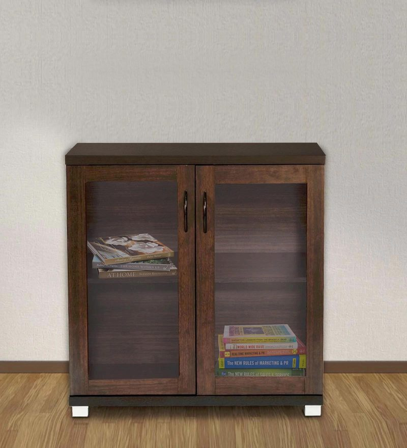 Chikako Two Door Storage Cabinet In Wenge Finish by Mintwud