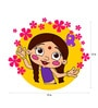 Chipakk Chutki with Flower Frame Door Decal