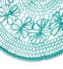 Chumbak Floral Mesh Basket Blue Iron Basket