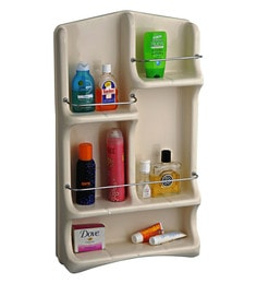 Cipla Plast Oasis   Ivory PPCP 29 X 14 X 4.4 Inch Bath Shelf
