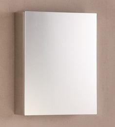 CiplaPlast Glossy Stainless Steel 17.7 X 13.7 X 4.7 Inch Flora Bathroom Cabinet