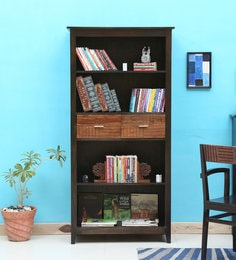 Cistella Large Book Shelf In Dual Tone Finish