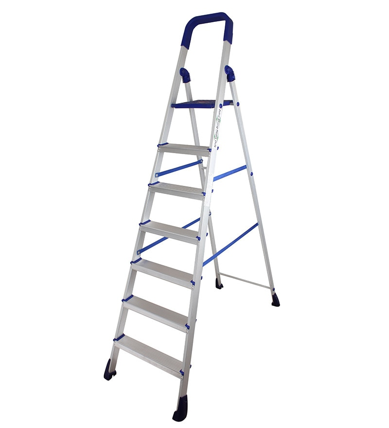 Cipla Plast Folding Aluminium Ladder - Home Pro 7 Steps