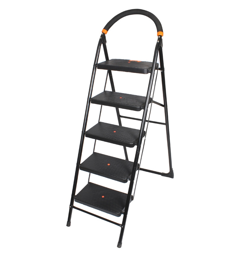 Cipla Plast Folding Ladder with Wide Steps  - Milano 5 Steps