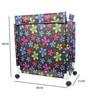 Cipla Plast Flower Print Fabric 20 L Brown Laundry Basket & Bag Hamper
