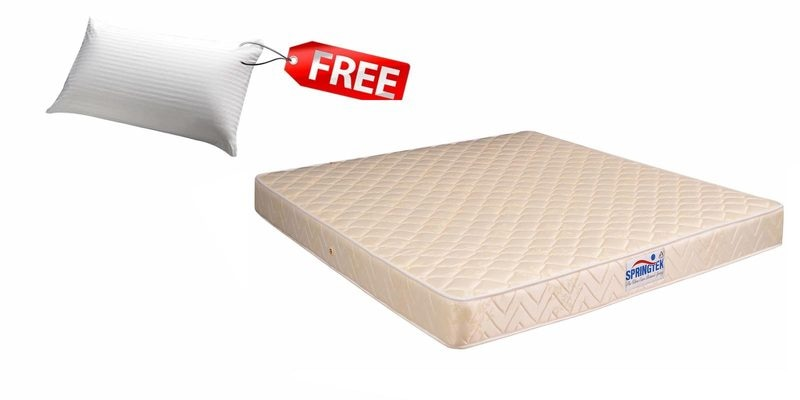 Classic Care Queen Size (78 x 60) 6 Inches Thick Bonnel Spring Mattress (FREE Pillow) by Springtek
