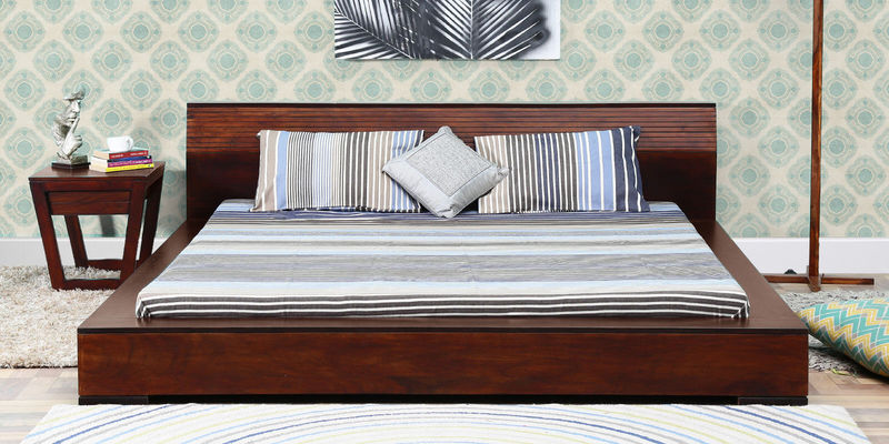 Clio King Bed in Dual Tone Finish by Woodsworth