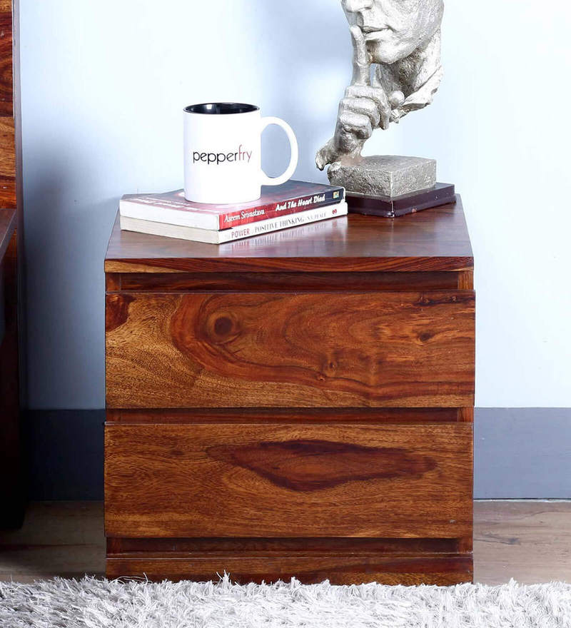 Claremont Bed Side Table in Provincial Teak Finish by Woodsworth