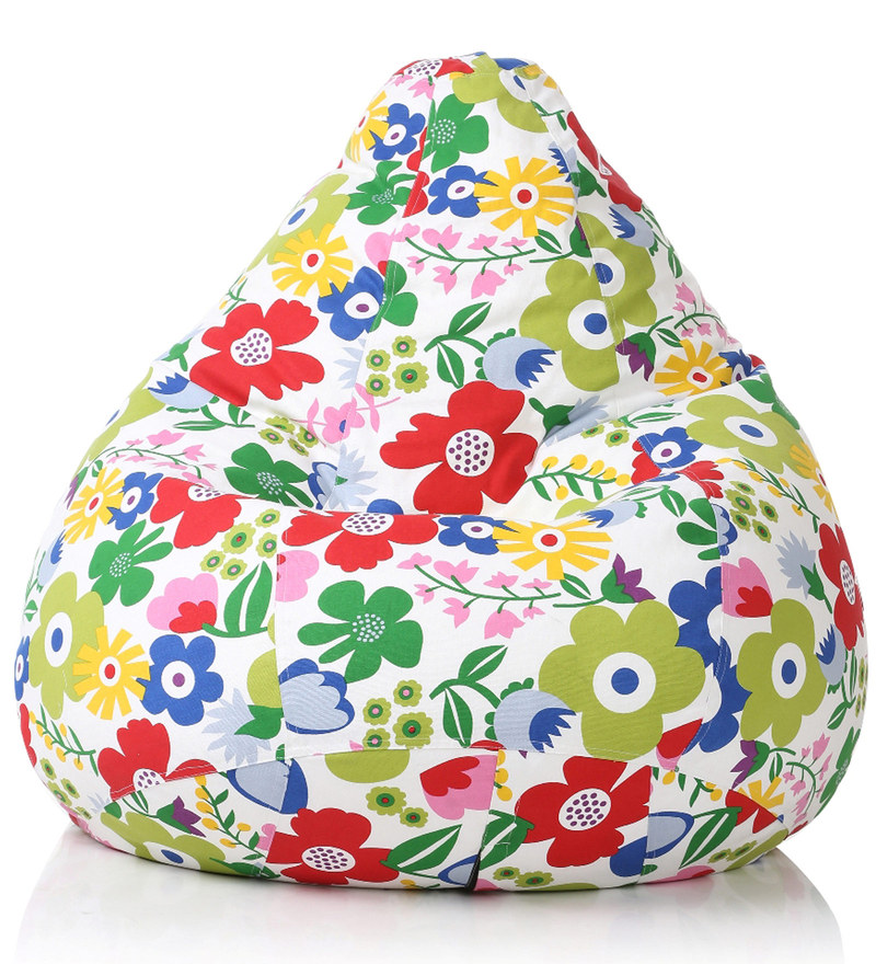 Floral Design XXL Bean Bag Cover in Multicolour by Style HomeZ