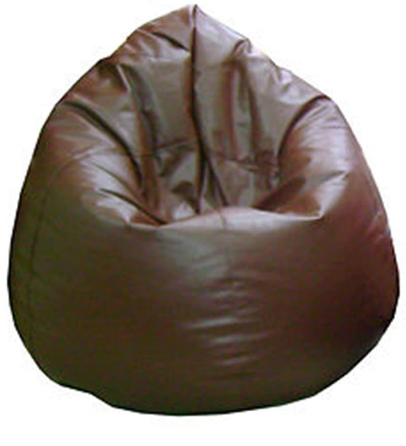 Classic Style XXXL Bean Bag With Beans In Brown Colour By Sattva