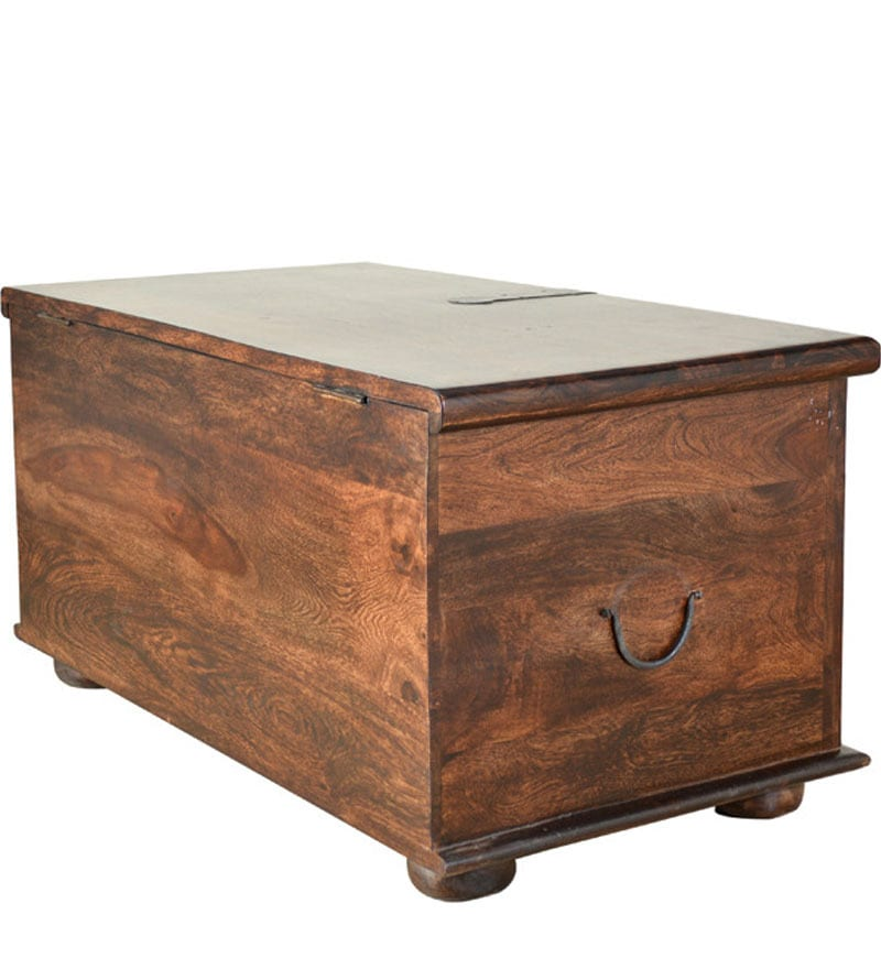 Buy Tuskar Solidwood Storage Trunk In Walnut Finish By