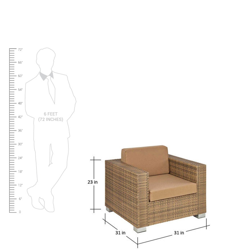 standard size of one seater sofa  baci living room
