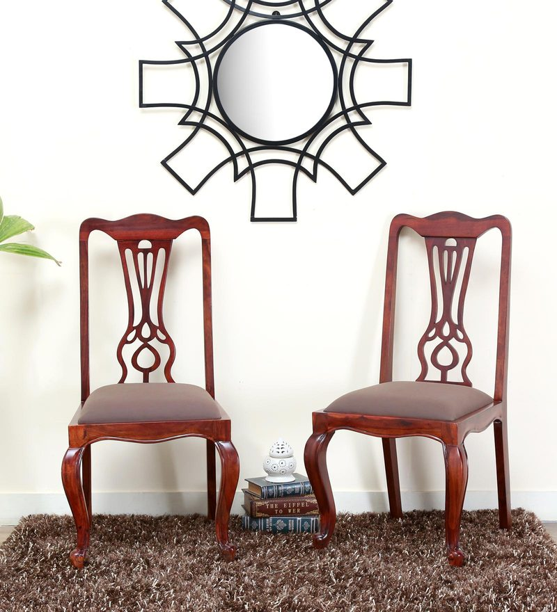 Clifford Dining Chair (Set of 2) in Honey Oak Finish by Amberville