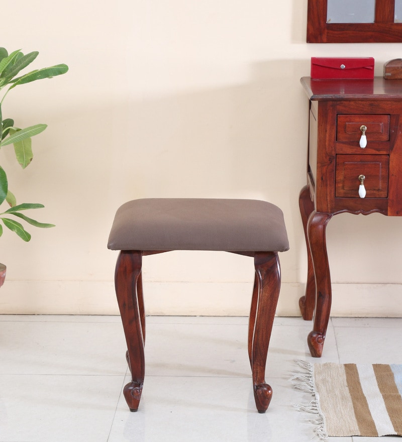 Clifford Stool in Honey Oak Finish by Amberville