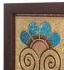 Clasicraft Beads on Canvas Board 11 x 0.5 x 11 Inch Flower Framed Wall Art