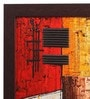 Multicolour Canvas 19 x 0.8 x 19 Inch Abstract Framed Wall Art Painting by ClasiCraft