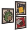 Multicolour Canvas Mini Wall Art - Set of 3 by ClasiCraft