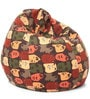 Abstract Design XL Bean Bag with Beans in Multicolour by Style HomeZ