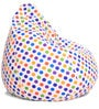 Classic Cotton Polka Dots Design Bean Bag XL Size with Beans by Style Homez