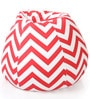 Classic Cotton Canvas Striped Bean Bag XXL Size Cover Only by Style Homez