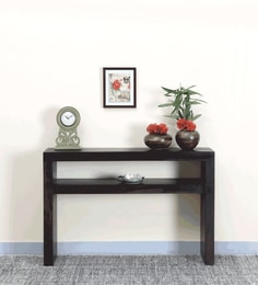 Acropolis Console Table In Warm Chestnut Finish