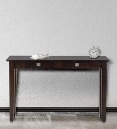 console table in wenge finish