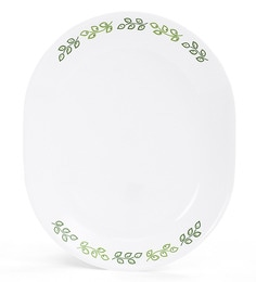 Corelle India Impressions Neo Leaf Oval Serving Tray