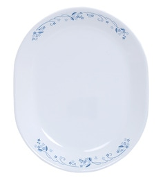Corelle Livingware Provincial Blue Oval Serving Tray