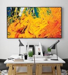 Cotton Canvas 72 X 1.5 X 48 Inch Abstract Multicolour Framed Digital Art Print