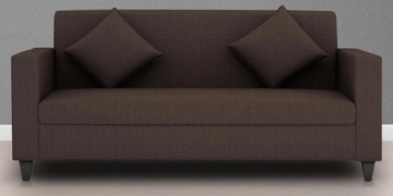 Cooper Three Seater Sofa in Coffee Colour by ARRA at pepperfry