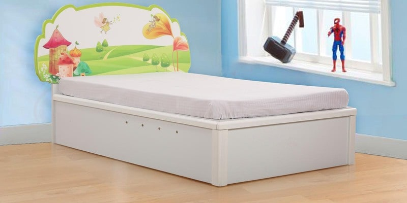 Comic Single Bed With Hydraulic Storage By Royal Oak