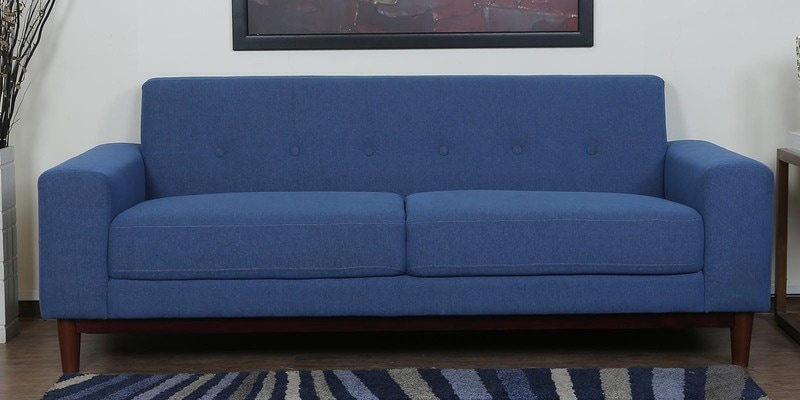 Cordoba Three Seater Sofa in Denim Blue Colour by CasaCraft