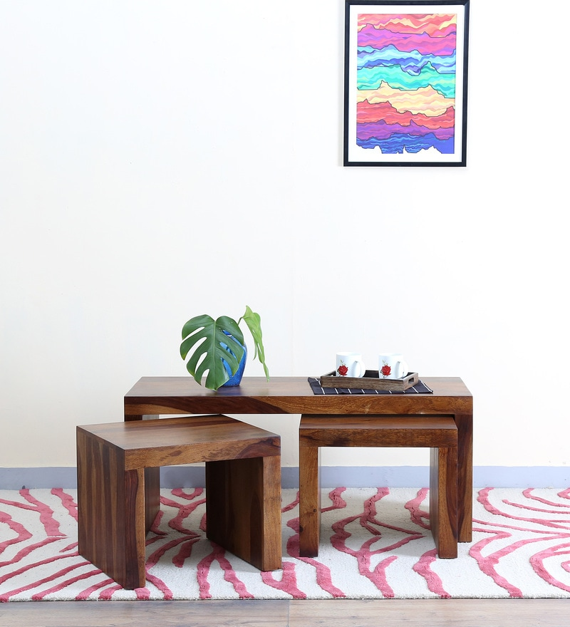 Acropolis Coffee Table Set in  Provincial Teak Finish by Woodsworth
