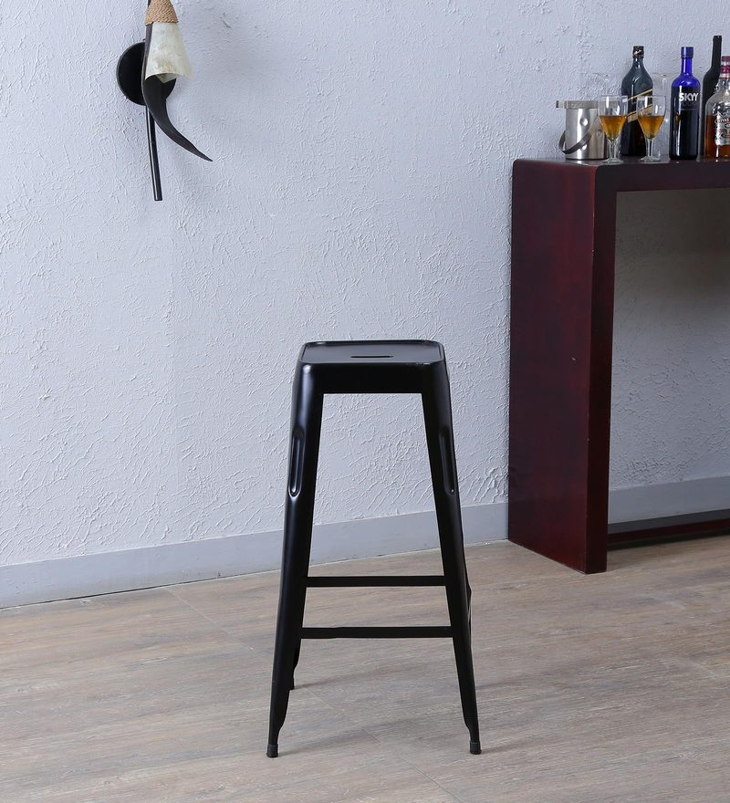 Cohen Metal Bar Stool in Black Colour by Bohemiana