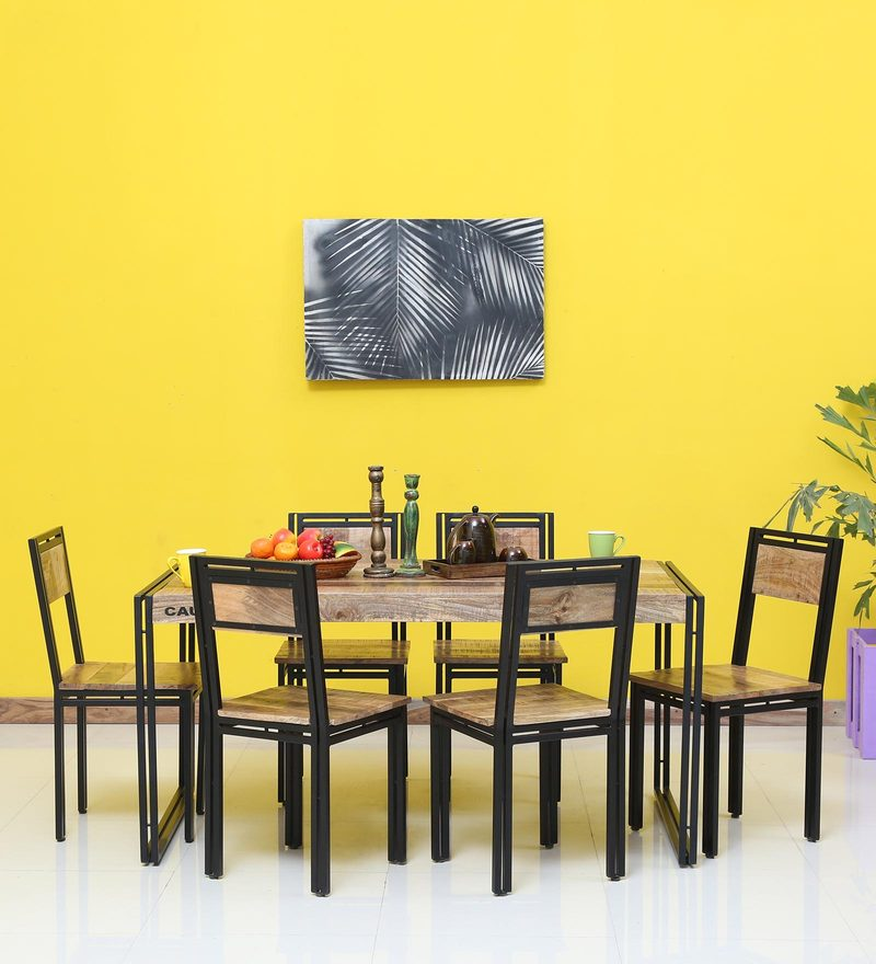 Coleman Solid Wood Six Seater Dining Set By Bohemiana