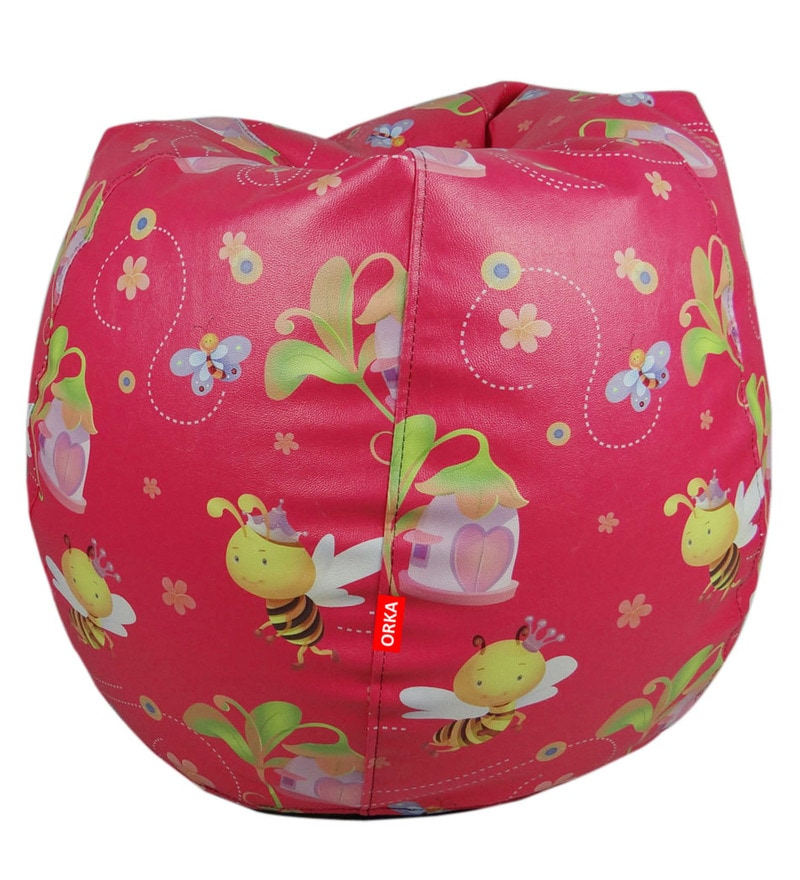 Digital Printed Kids Bean Bag Cover in Multicolour by Orka