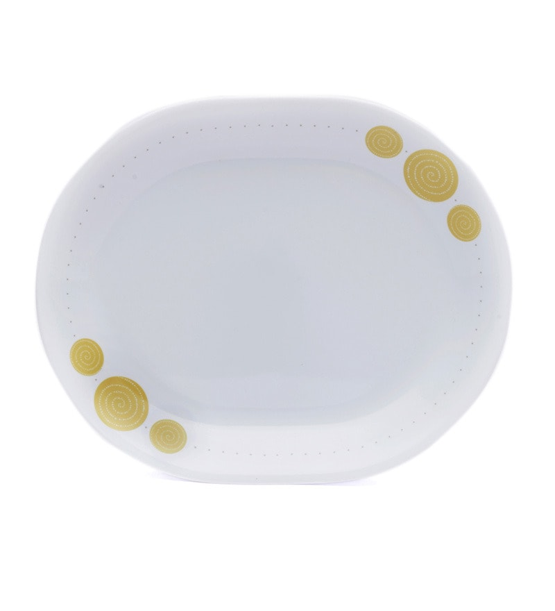 Corelle India Collection Spiral Oval Serving Platter (Big)