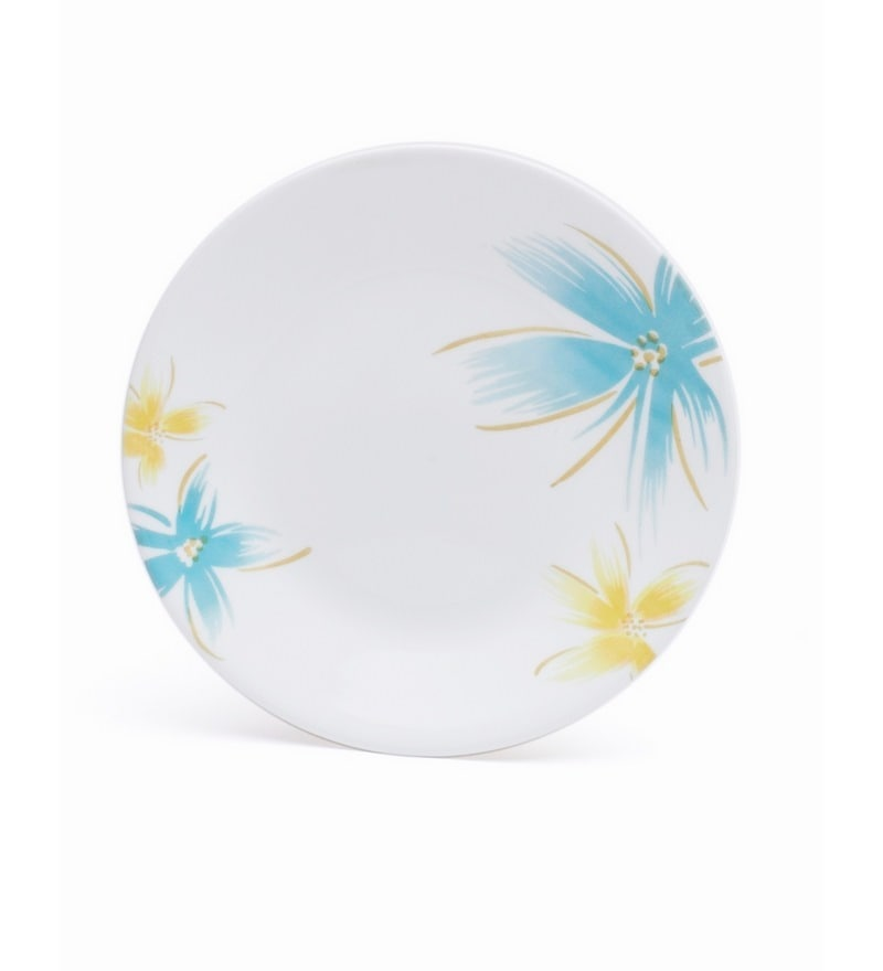 Corelle India Impressions Hawaiian Vitrelle Glass Plate - Set of 6