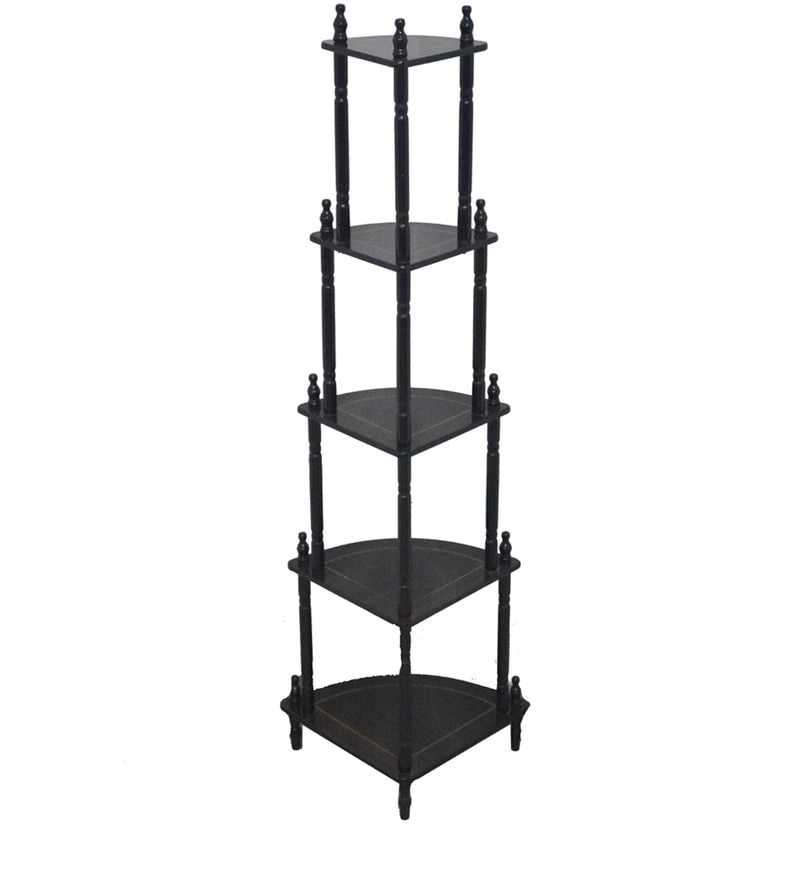 Display Unit cum Book Shelf in Dark Brown Colour by Eros
