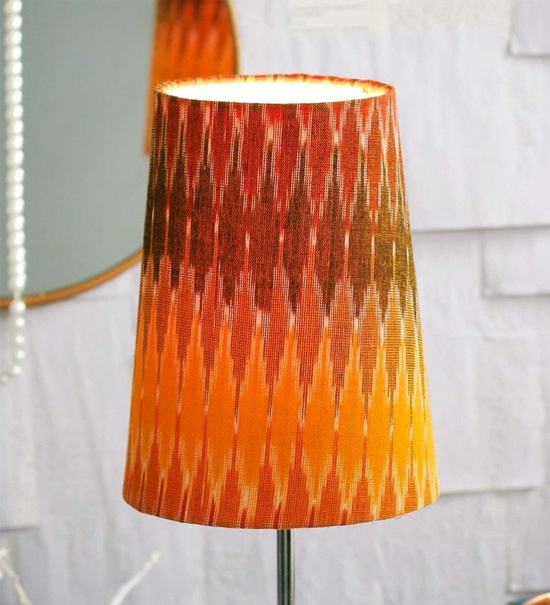 Patola Multicolour Fabric Lamp Shade by Courtyard