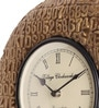 Brown Wooden 12 Inch Round Antique Wall Clock by Cocovey