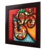 Canvas 16 x 2 x 16 Inch Om Style Paglya Art Framed Rajasthani Style Phad Painting by Cocovey